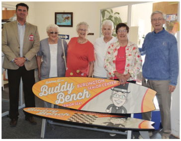 Buddy Bench At Senior Center