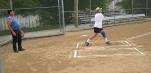 BSC Over 55 Softball - Kathy At Bat